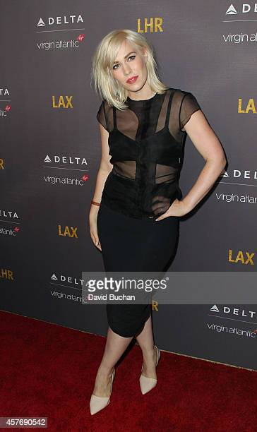 Singer Natasha Bedingfield attends Delta Airlines and Virgin Atlantic red carpet event celebrating new direct route between LAX and Heathrow airports...