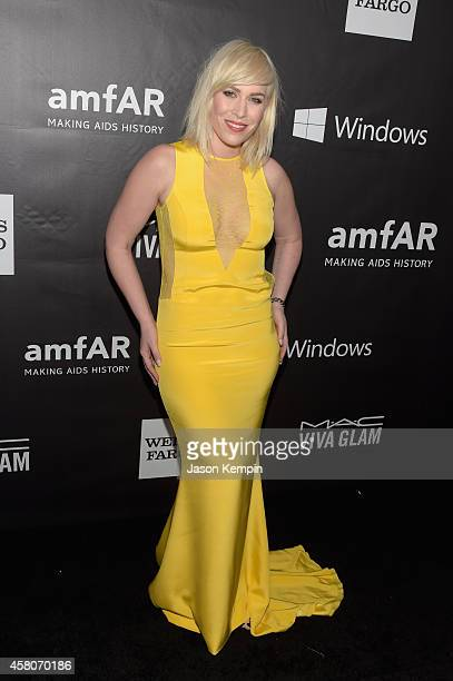 Singer Natasha Bedingfield attends the 2014 amfAR LA Inspiration Gala at Milk Studios on October 29 2014 in Hollywood California