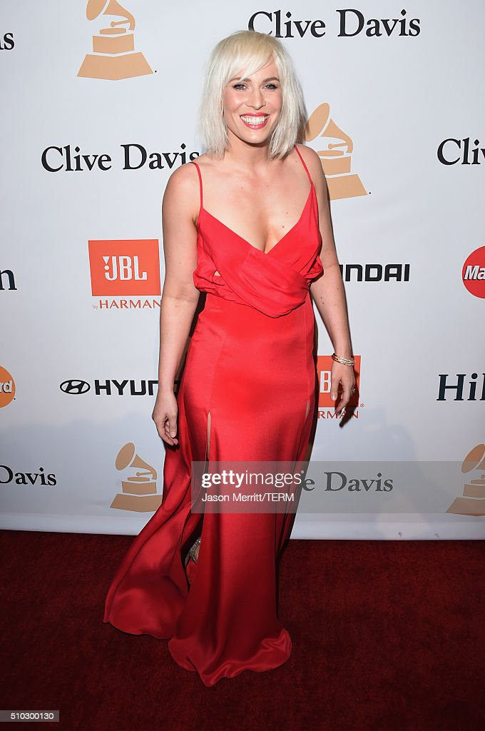 Singer Natasha Bedingfield attends the 2016 Pre-GRAMMY Gala and Salute to Industry Icons honoring Irving Azoff at The Beverly Hilton Hotel on February 14, 2016 in Beverly Hills, California.
