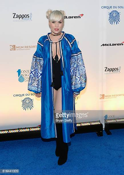 Singer Natasha Bedingfield attends the fourth annual 'One Night for ONE DROP' imagined by Cirque du Soleil a show that raises awareness and funds for...