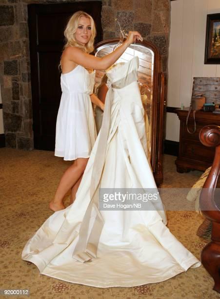 Singer Natasha Bedingfield before the wedding ceremony between her and Matt Robinson held at Church Estate Vinyards on March 21 2009 in Malibu...