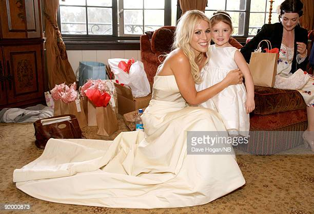 Singer Natasha Bedingfield before the wedding ceremony between her and Matt Robinson held at Church Estate Vinyards on March 21 2009 in Malibu...