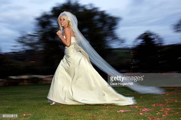 Singer Natasha Bedingfield during her wedding ceremony to Matt Robinson held at Church Estate Vinyards on March 21 2009 in Malibu California