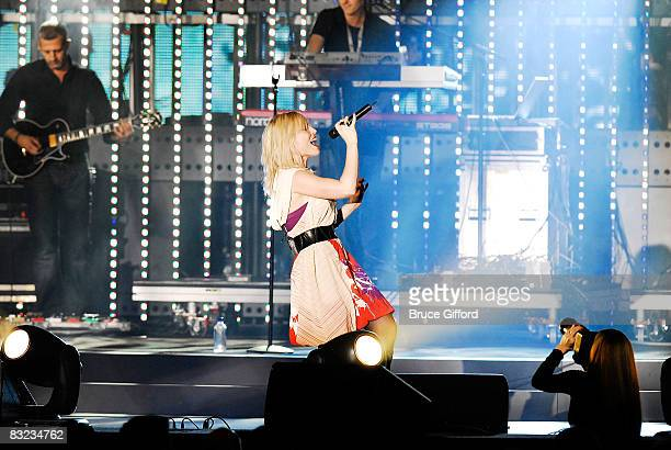 Singer Natasha Bedingfield perform at the 13th annual Andre Agassi Charitable Foundation's Grand Slam for Children benefit concert at the Wynn Las...