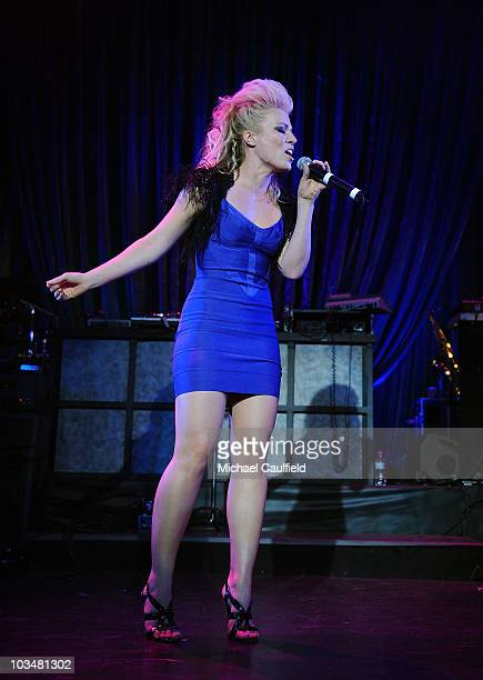Singer Natasha Bedingfield performs during the 4th Annual Peapod Foundation Benefit Concert hosted by The Black Eyed Peas and the Entertainment...