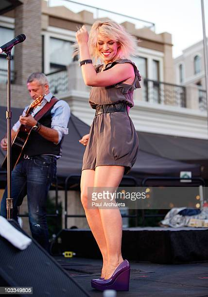 Singer Natasha Bedingfield performs in concert at The Americana at Brand on August 11 2010 in Glendale California