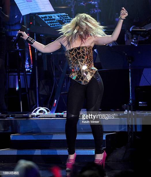 Singer Natasha Bedingfield performs onstage during 'VH1 Divas' 2012 at The Shrine Auditorium on December 16 2012 in Los Angeles California