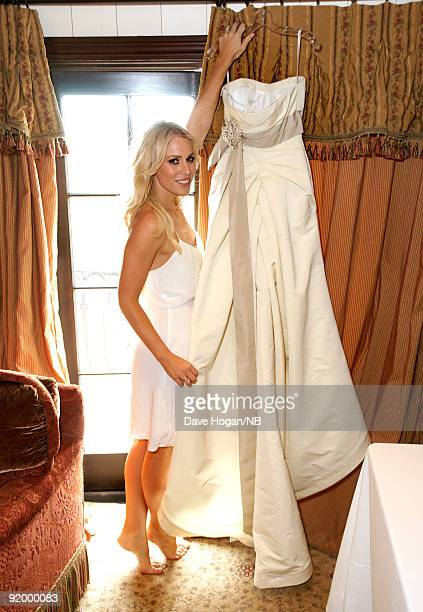 Singer Natasha Bedingfield poses before the wedding ceremony between her and Matt Robinson held at Church Estate Vinyards on March 21 2009 in Malibu...