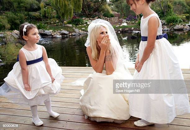 Singer Natasha Bedingfield poses during her wedding ceremony Matt Robinson held at Church Estate Vinyards on March 21 2009 in Malibu California