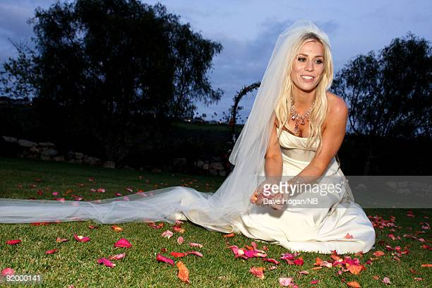 Singer Natasha Bedingfield poses during her wedding ceremony to Matt Robinson held at Church Estate Vinyards on March 21 2009 in Malibu California