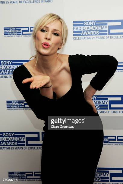 Singer Natasha Bedingfield poses in the awards room at the Sony Radio Academy Awards 2007 at Grosvenor House Hotel on April 30 2007 in London England...
