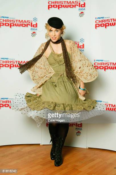 Singer Natasha Bedingfield poses in the pressroom ahead of Christmas In Popworld on at Wembley Arena on December 2 2004 in London Acts perform live...
