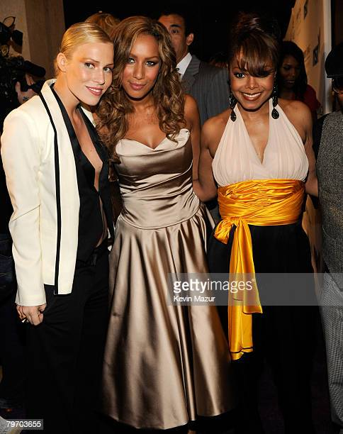 Singer Natasha Bedingfield Singer Leona Lewis and Singer Janet Jackson attend the 2008 Clive Davis PreGRAMMY party at the Beverly Hilton Hotel on...