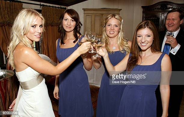 Singer Natasha Bedingfield with bridesmades Beth Redman Karin Myrin and Nikola Kolvet before the wedding ceremony of singer Natasha Bedingfield and...