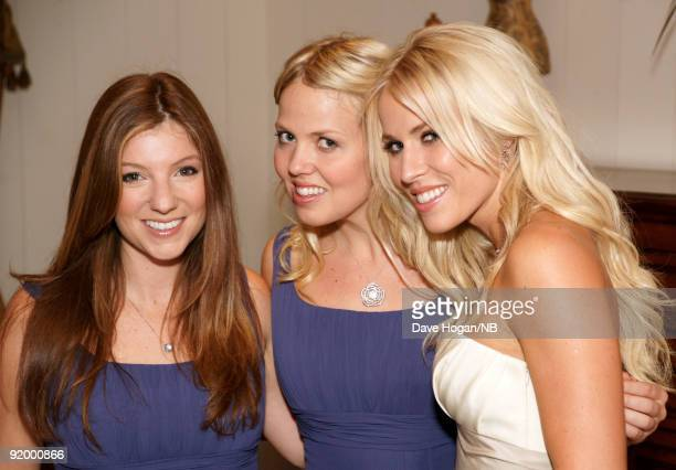 Singer Natasha Bedingfield with bridesmades Karin Myrin and Nikola Kolvet before the wedding ceremony of singer Natasha Bedingfield and Matt Robinson...