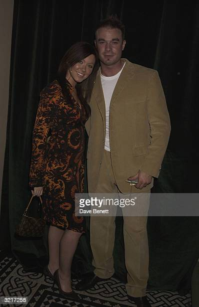 Singer Natasha Hamilton of the pop group Atomic Kitten and partner Franc at the PerrierJouet Belle Epoque party in aid of The Elton John AIDS...