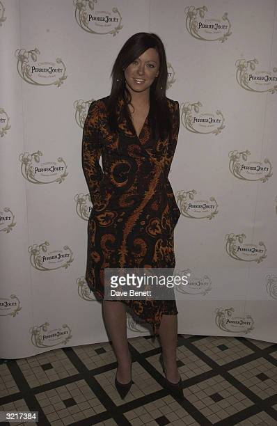 Singer Natasha Hamilton of the pop group Atomic Kitten at the PerrierJouet Belle Epoque party in aid of The Elton John AIDS Foundation held at the In...