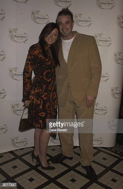 Singer Natasha Hamilton of the pop group Atomic Kitten with partner Franc at the PerrierJouet Belle Epoque party in aid of The Elton John AIDS...