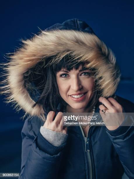 Singer Natasha StPier is photographed for Paris Match on December 15 2017 in Bathurst New Brunswick