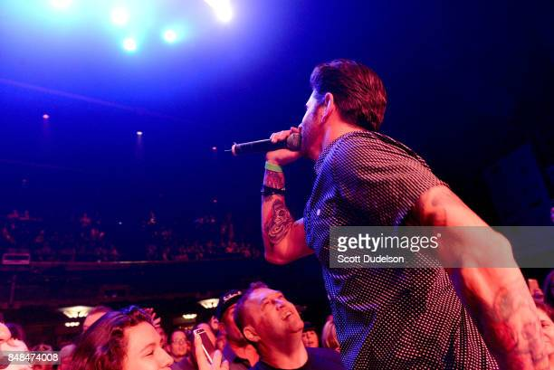 Singer Nate Lawler performs onstage during the second annual Rock to Recovery benefit concert at The Fonda Theatre on September 16 2017 in Los...