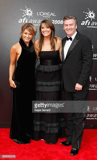 Singer Nathalie Bassingthwaighte Eddie McGuire and wife Carla McGuire arrive at the L'Oreal Paris 2008 AFI Awards at the Princess Theatre on December...