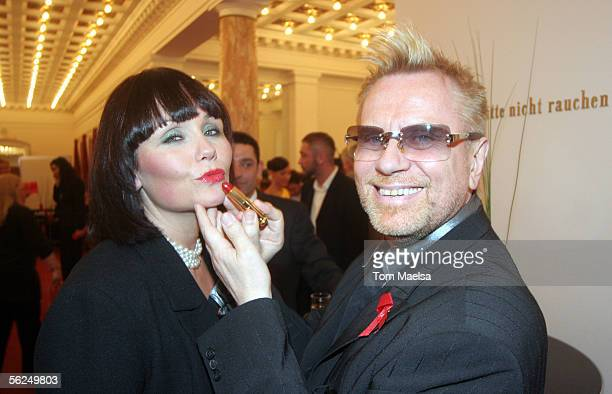 Singer Nathalie Kollo and Rene Koch attend the Artists Against AIDS Charity Gala on November 21 2005 in Berlin Germany