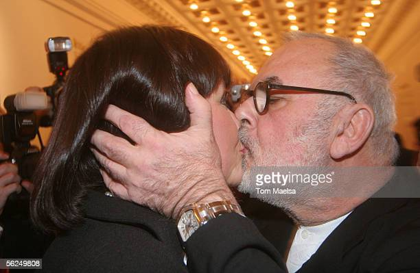 Singer Nathalie Kollo and Udo Walz attend the Artists Against AIDS Charity Gala on November 21 2005 in Berlin Germany