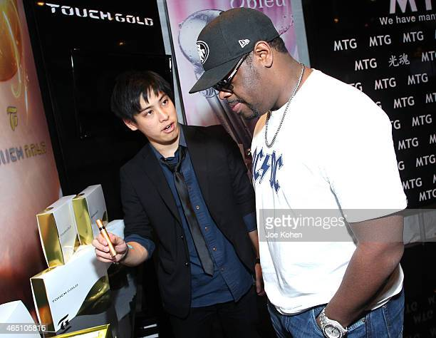 Singer Nathan Morris of Boyz II Men attends the GRAMMY Gift Lounge during the 56th Grammy Awards at Staples Center on January 25 2014 in Los Angeles...