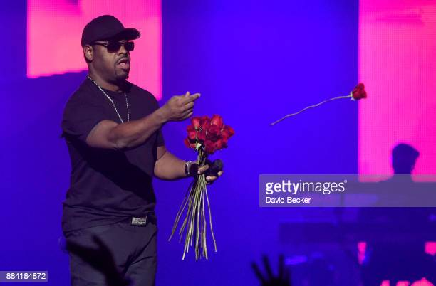 Singer Nathan Morris of Boyz II Men performs at the Vegas Strong Benefit Concert at TMobile Arena to support victims of the October 1 tragedy on the...