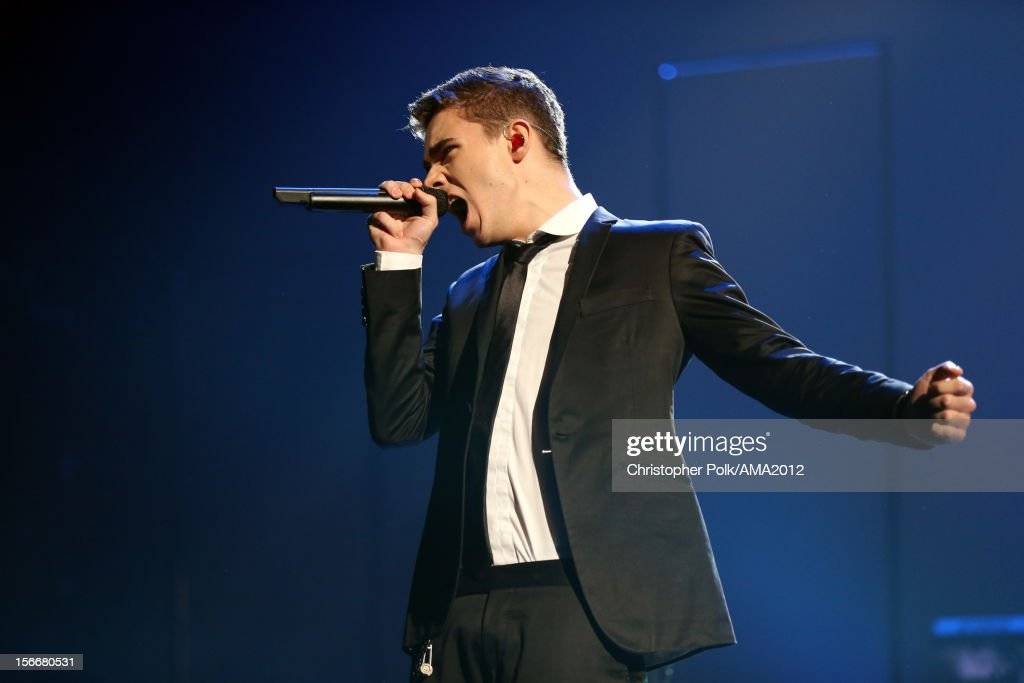 Singer Nathan Sykes of The Wanted performs onstage during the 40th American Music Awards held at Nokia Theatre L.A. Live on November 18, 2012 in Los Angeles, California.