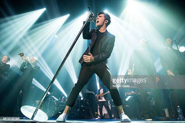Singer Nathan Sykes performs at his first US concert as a solo artist at Gramercy Theatre on July 22 2015 in New York City
