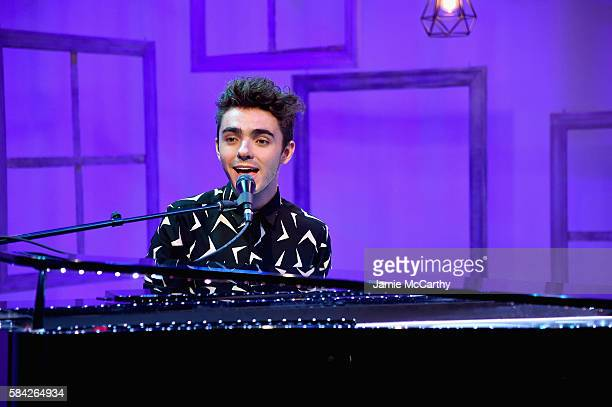 Singer Nathan Sykes performs onstage during the People Now Concert Series Presented By Toyota Music With Nathan Sykes on July 28 2016 in New York City