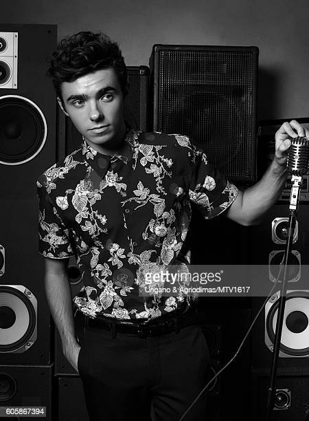 Singer Nathan Sykes poses for a portrait at the 2016 MTV Video Music Awards at Madison Square Garden on August 28 2016 in New York City