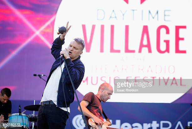Singer Nathan Willett and musician Matt Maust of Cold War Kids perform onstage during the 2016 Daytime Village at the iHeartRadio Music Festival at...
