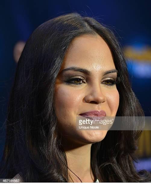 Singer Natti Natasha attends the Mega 963 Calibashat Staples Center on January 24 2015 in Los Angeles California