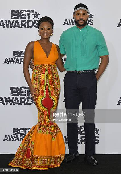 Singer Naturi Naughton and actor Hosea Chanchez pose in the press room during the 2015 BET Awards at the Microsoft Theater on June 28 2015 in Los...