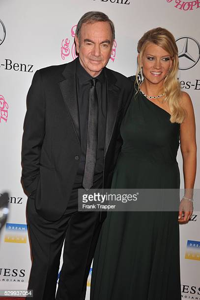 Singer Neil Diamond and wife Katie McNeil arrive at the 26th Carousel of Hope Gala held at the Beverly Hilton Hotel