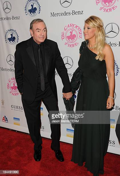 Singer Neil Diamond and wife Katie McNeil arrives at the 26th Anniversary Carousel Of Hope Ball presented by MercedesBenz at The Beverly Hilton Hotel...