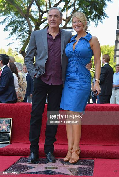 Singer Neil Diamond and wife Katie McNeil attend a ceremony honoring Neil Diamond with the 2475th Star on the Hollywood Walk of Fame on August 10...