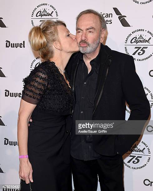 Singer Neil Diamond and wife Katie McNeil attend Capitol Records 75th Anniversary Gala at Capitol Records Tower on November 15 2016 in Los Angeles...