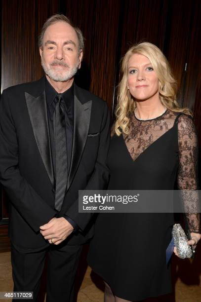 Singer Neil Diamond and wife Katie McNeil attend the 56th annual GRAMMY Awards PreGRAMMY Gala and Salute to Industry Icons honoring Lucian Grainge at...