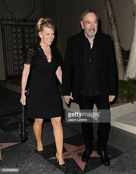 Singer Neil Diamond and wife Katie McNeil attend the Capitol Records 75th anniversary gala at Capitol Records Tower on November 15 2016 in Los...