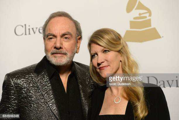 Singer Neil Diamond and wife Katie McNeil attend the Clive Davis annual PreGrammy Gala at The Beverly Hilton Hotel on February 11 2017 in Beverly...