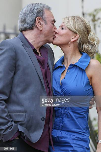 Singer Neil Diamond and wife Katie McNeil Diamond attend his Hollywood Walk of Fame ceremony on August 10 2012 in Hollywood California
