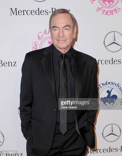 Singer Neil Diamond arrives at the 26th Anniversary Carousel Of Hope Ball presented by MercedesBenz at The Beverly Hilton Hotel on October 20 2012 in...