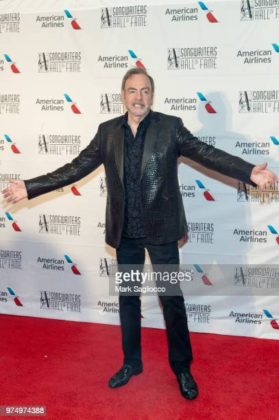 Singer Neil Diamond attends the 2018 Songwriter's Hall Of Fame Induction and Awards Gala at New York Marriott Marquis Hotel on June 14 2018 in New...