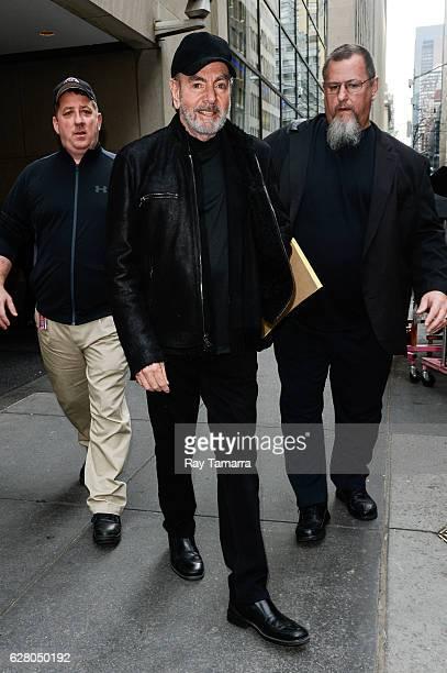 Singer Neil Diamond leaves the 'Today Show' taping at the NBC Rockefeller Center Studios on December 06 2016 in New York City