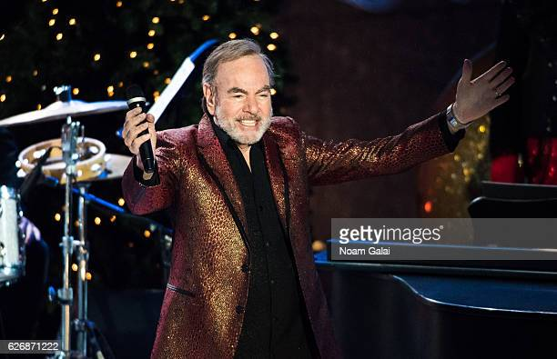 Singer Neil Diamond performs at the 84th Rockefeller Center Christmas Tree Lighting ceremony at Rockefeller Center on November 30 2016 in New York...