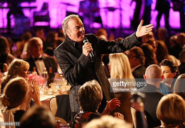 Singer Neil Diamond performs during the 26th Anniversary Carousel Of Hope Ball presented by MercedesBenz at The Beverly Hilton Hotel on October 20...