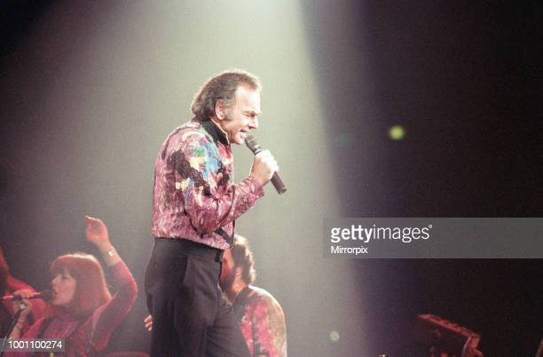 Singer Neil Diamond pictured in concert at the Birmingham NEC 11th July 1992